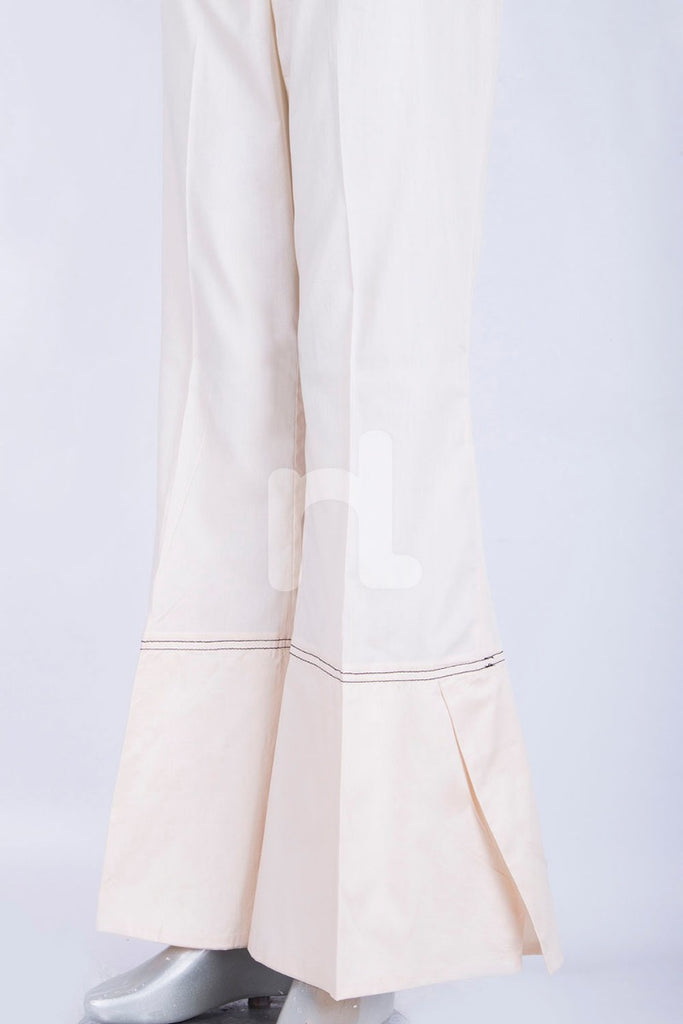 PS18-294 Off White Dyed Cambric Straight Trouser for Women - Nishat Linen UAE