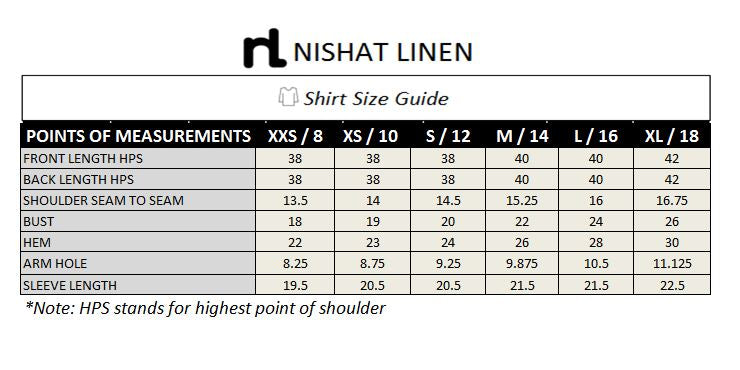 PS19-04 White Printed Stitched Shirt - 1PC - Nishat Linen UAE