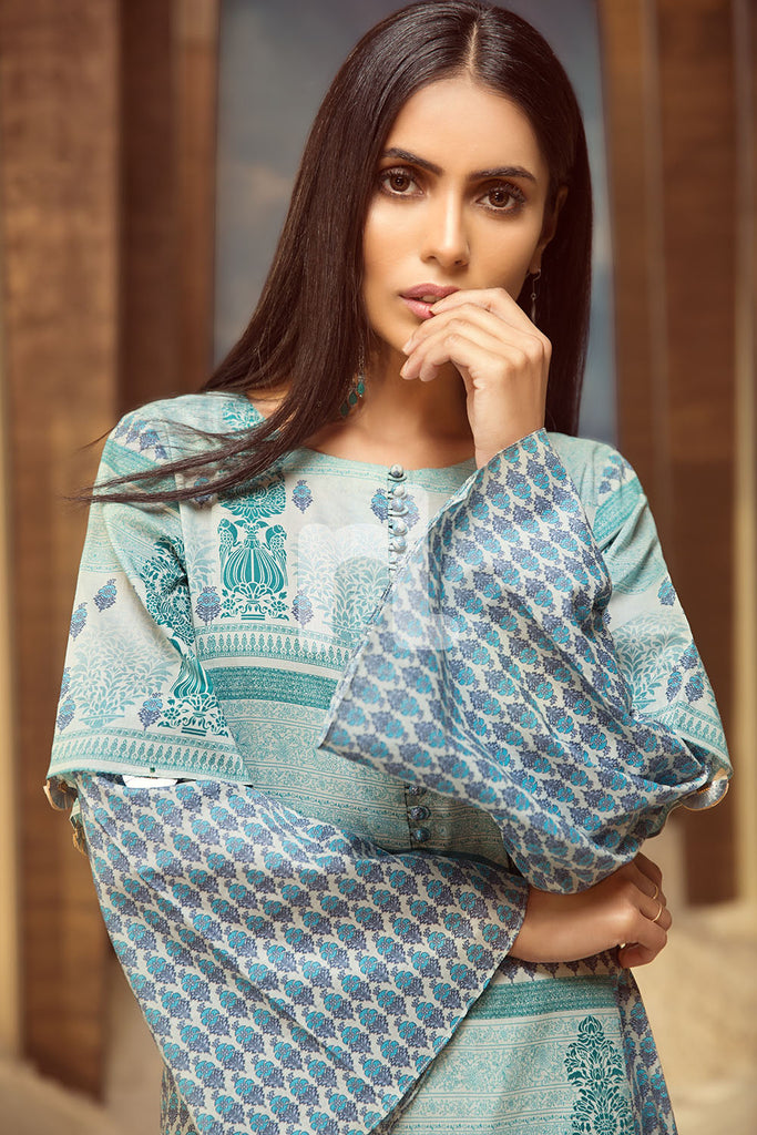 PS19-21 Green Printed Stitched Frock - 1PC - Nishat Linen UAE