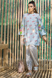 PS19-90 Blue Printed Stitched Shirt - 1PC - Nishat Linen UAE