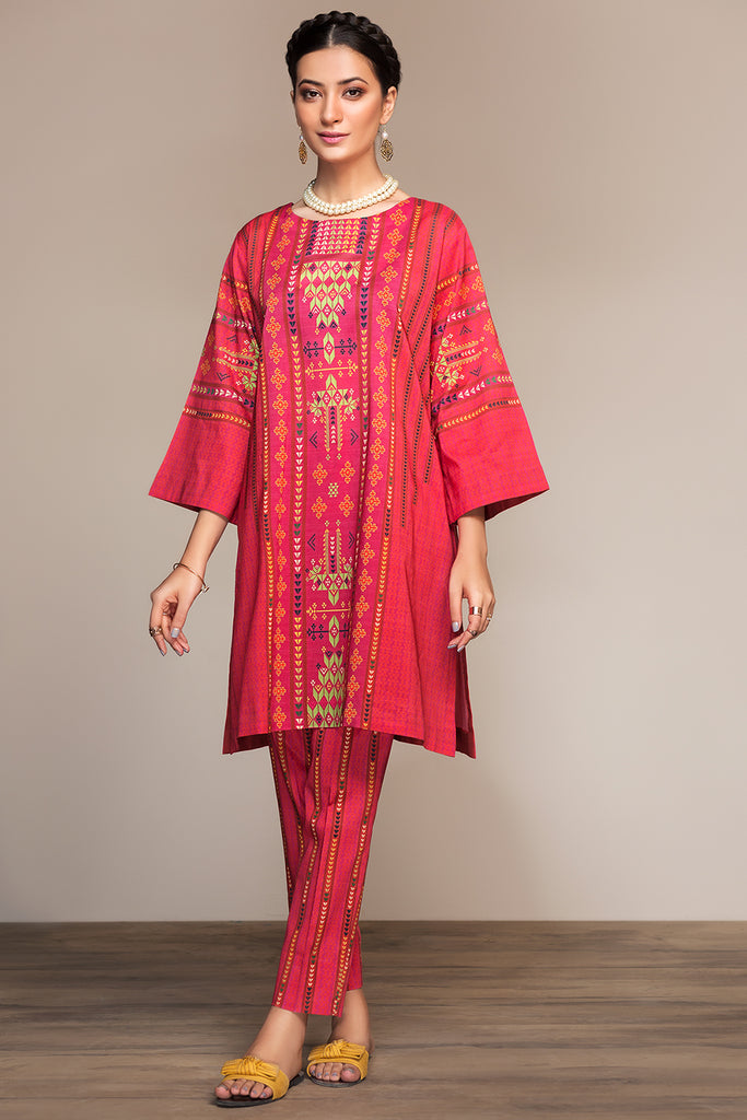 PS20- 112 Printed Embroidered Stitched Shirt - 1PC - Nishat Linen UAE