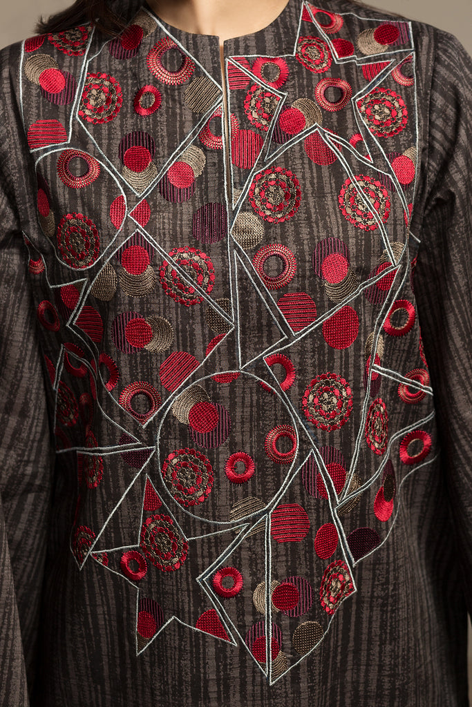 PS20-160 Printed Embroidered Stitched Shirt - 1PC - Nishat Linen UAE