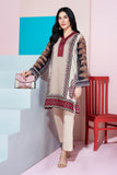 PS20-213-Basic Printed Embroidered Stitched Super Fine Lawn Shirt - 1PC