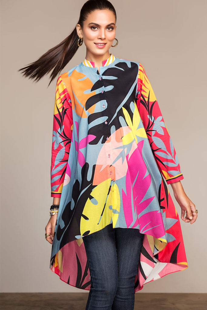 PS20-24 Printed Stitched Shirt - 1PC - Nishat Linen UAE