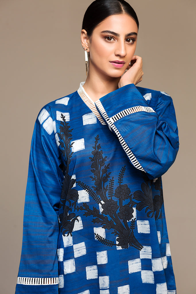 PS20-28 Printed Stitched Shirt - 1PC - Nishat Linen UAE