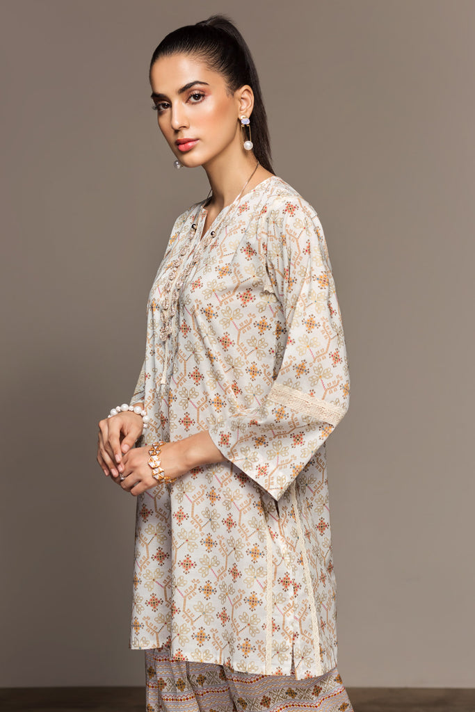 PS20-41 Printed Stitched Shirt & Printed Shalwar - 2PC - Nishat Linen UAE