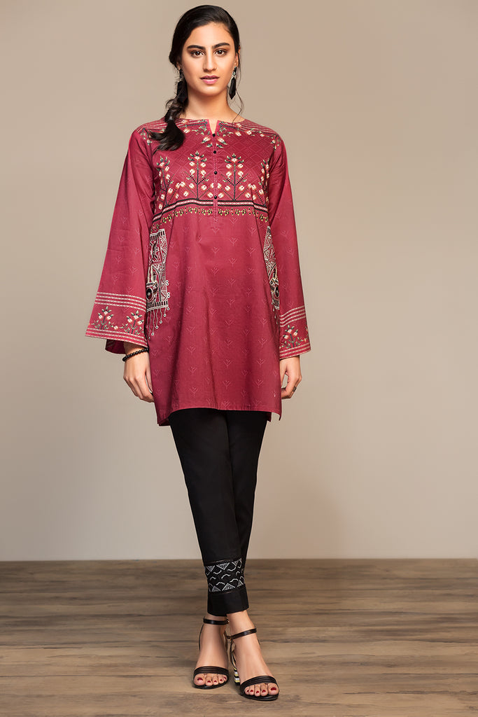 PS20-48 Dyed Embroidered Stitched Shirt - 1PC - Nishat Linen UAE