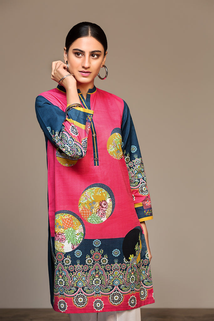 PS20-97 Digital Printed Stitched Slub Lawn Shirt - 1PC - Nishat Linen UAE