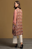 PW19-111 Brown Digital Printed Stitched Linen Shirt - 1PC - Nishat Linen UAE