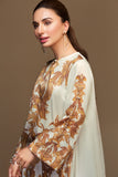 PW19-25 Off White Digital Printed Stitched Sateen Shirt - 1PC - Nishat Linen UAE