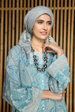 DS19-33 Blue Digital Printed Stitched Lawn Jalabiya – 1PC - Nishat Linen UAE