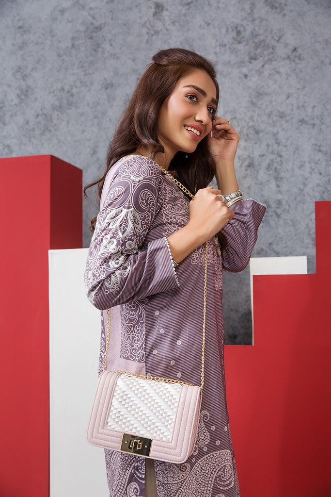 PE20-01 Printed Embroidered Stitched Shirt - 1PC - Nishat Linen UAE