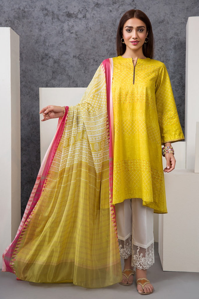 PE20-35 Printed Stitched Shirt & Dupatta - 2PC - Nishat Linen UAE