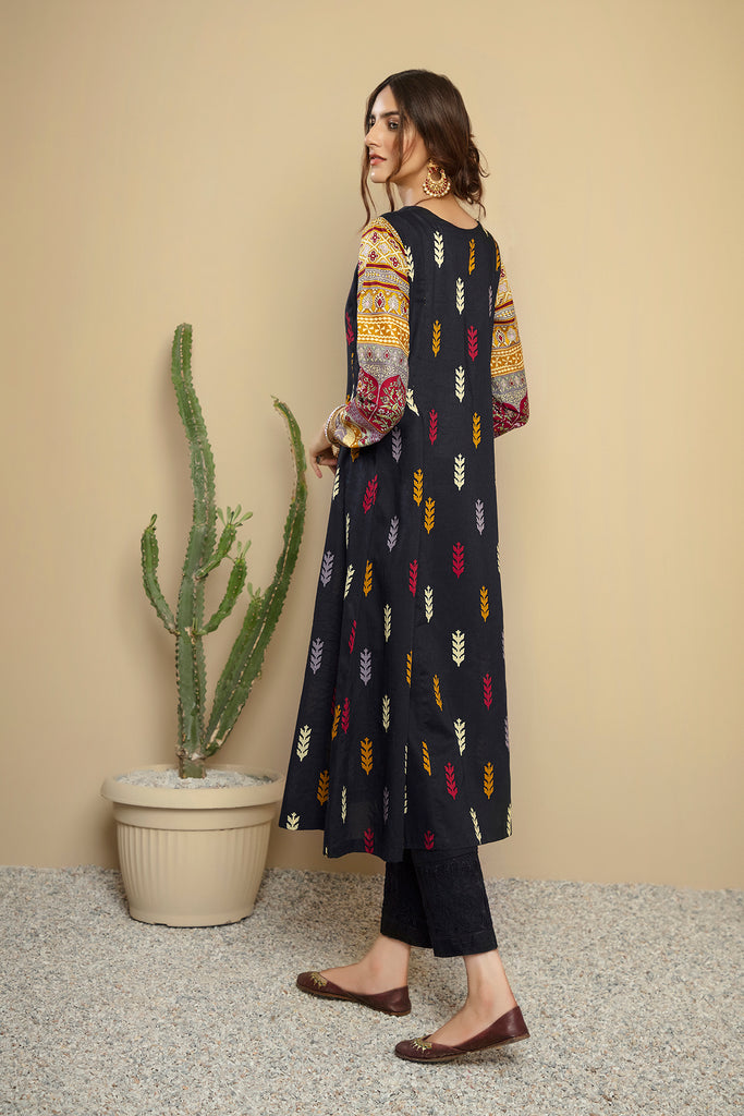 PS20-241 Printed Stitched Lawn Frock - 1PC - Nishat Linen UAE