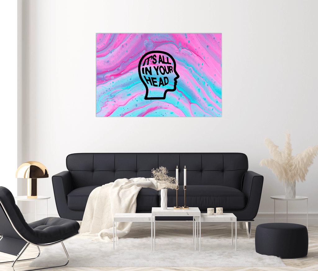 """Trippin'"" - Glass Print - HYLUS Acrylic Glass Art - Skateboards, Surfboards & Glass Prints Wall Decor for your Home."
