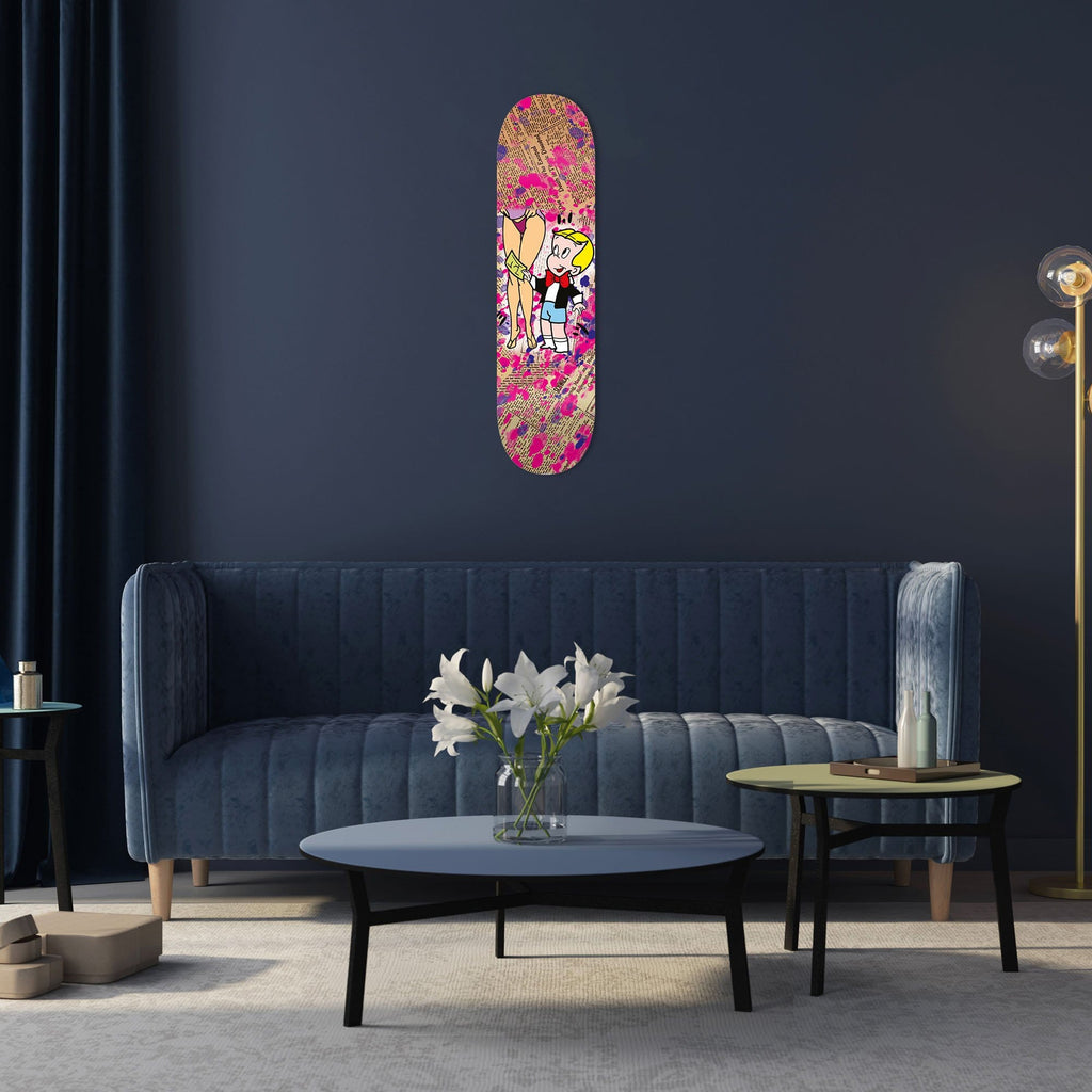 """Happy Boy"" - Skateboard - HYLUS Acrylic Glass Art - Skateboards, Surfboards & Glass Prints Wall Decor for your Home."