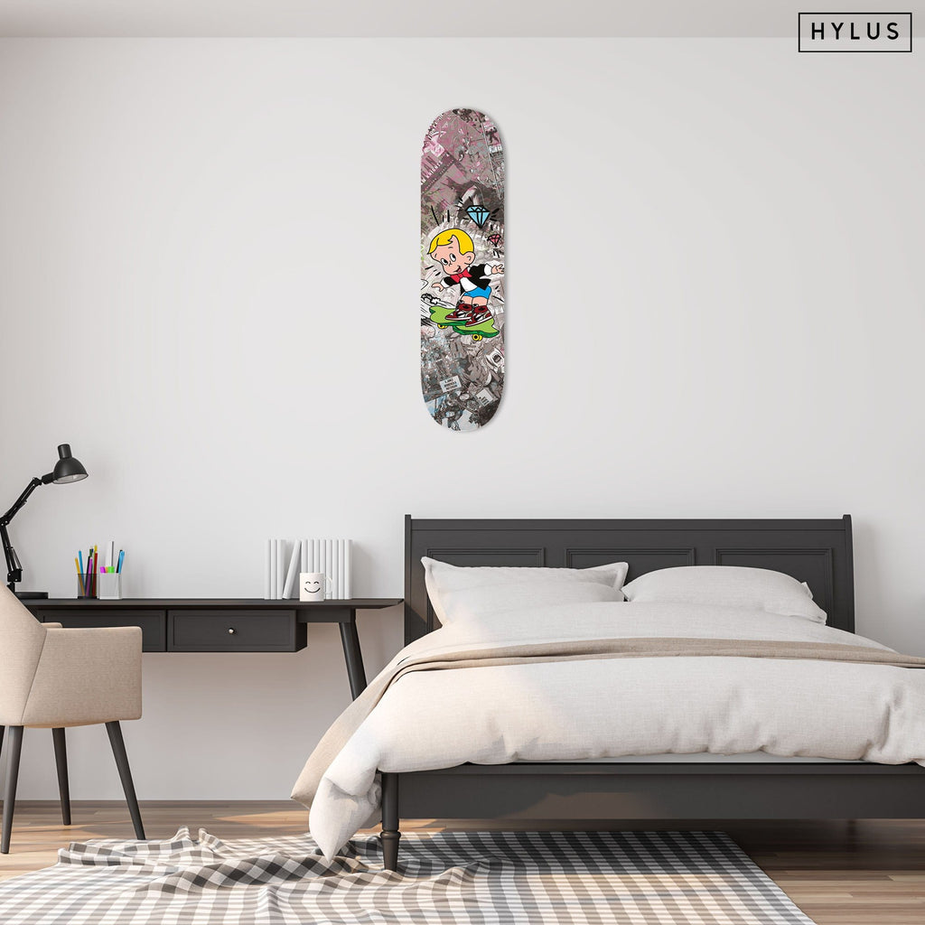 """Hype Richie"" - Skateboard - HYLUS Acrylic Glass Art - Skateboards, Surfboards & Glass Prints Wall Decor for your Home."