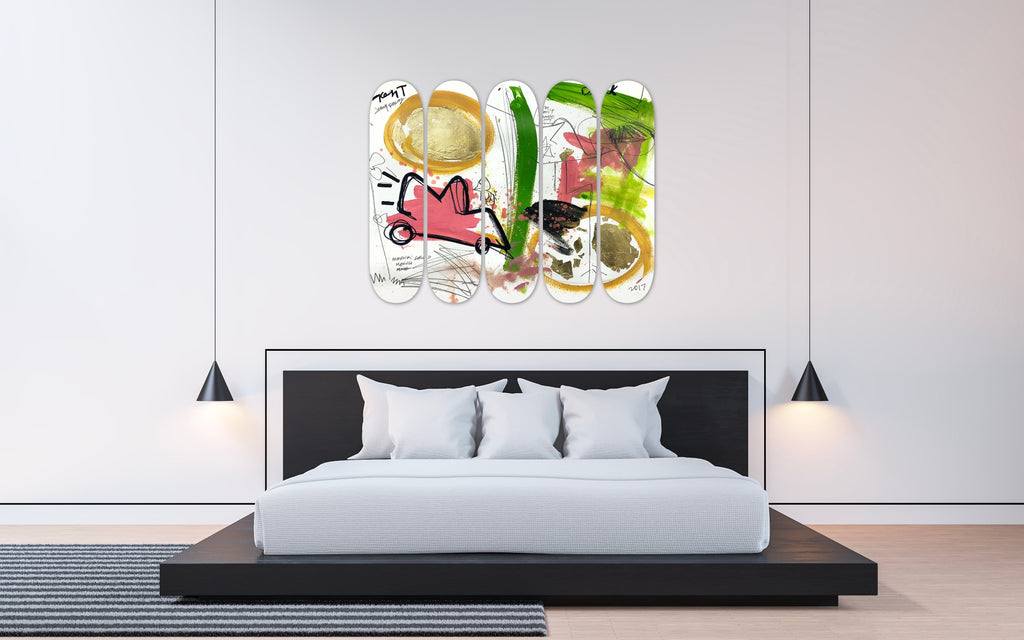 "HYLUS X JENNY PEREZ - ""Once"" - Skateboard - HYLUS Acrylic Glass Art - Skateboards, Surfboards & Glass Prints Wall Decor for your Home."