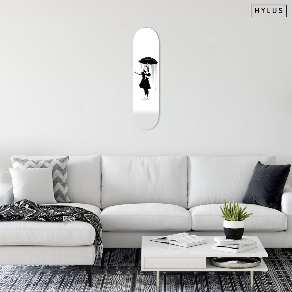 "Bundle: ""Love & Under the Rainbow & Hope"" - Skateboard - HYLUS Acrylic Glass Art - Skateboards, Surfboards & Glass Prints Wall Decor for your Home."