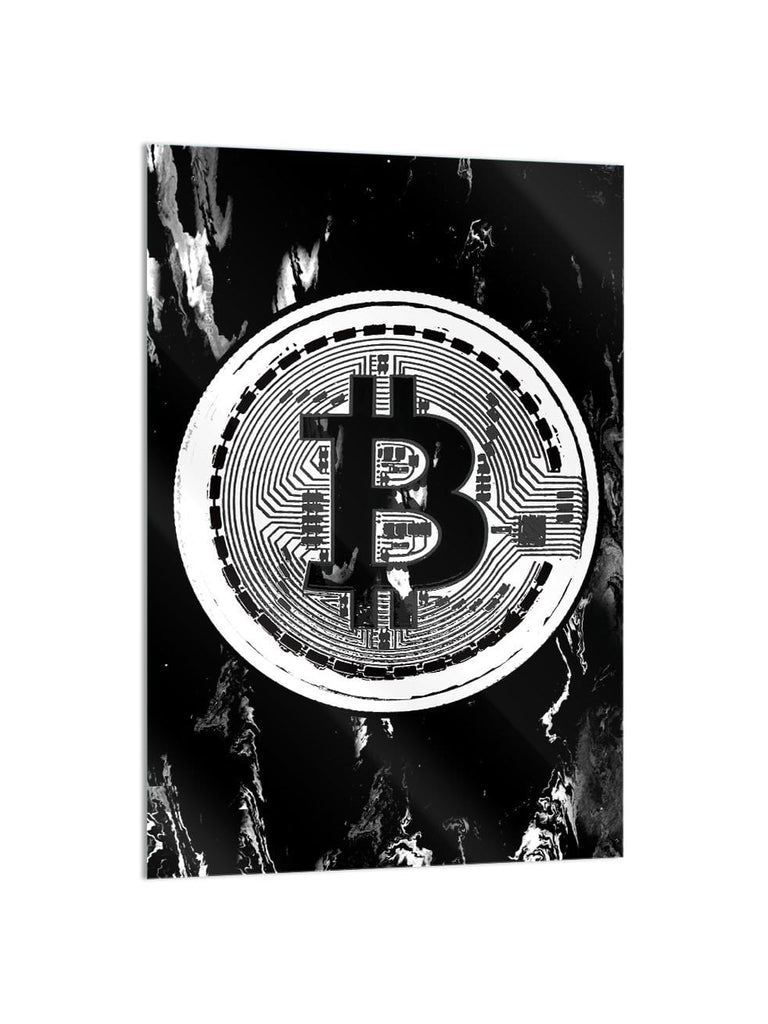 """Bitcoin Era"" - Glass Print - HYLUS Acrylic Glass Art - Skateboards, Surfboards & Glass Prints Wall Decor for your Home."