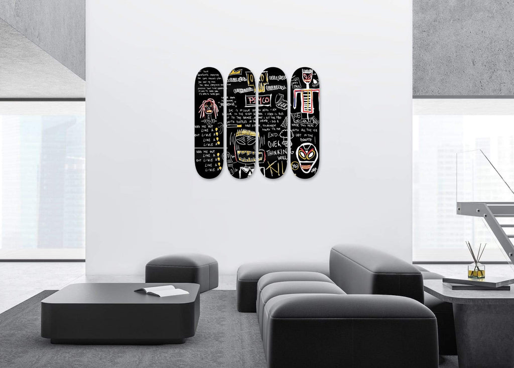 """Area 51"" - Skateboard - HYLUS Acrylic Glass Art - Skateboards, Surfboards & Glass Prints Wall Decor for your Home."