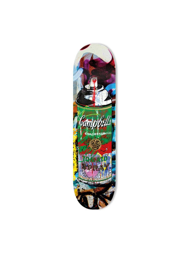 "Bundle: ""Tomato Spray Purple & Yellow & Red & Green"" - Skateboard - HYLUS Acrylic Glass Art - Skateboards, Surfboards & Glass Prints Wall Decor for your Home."