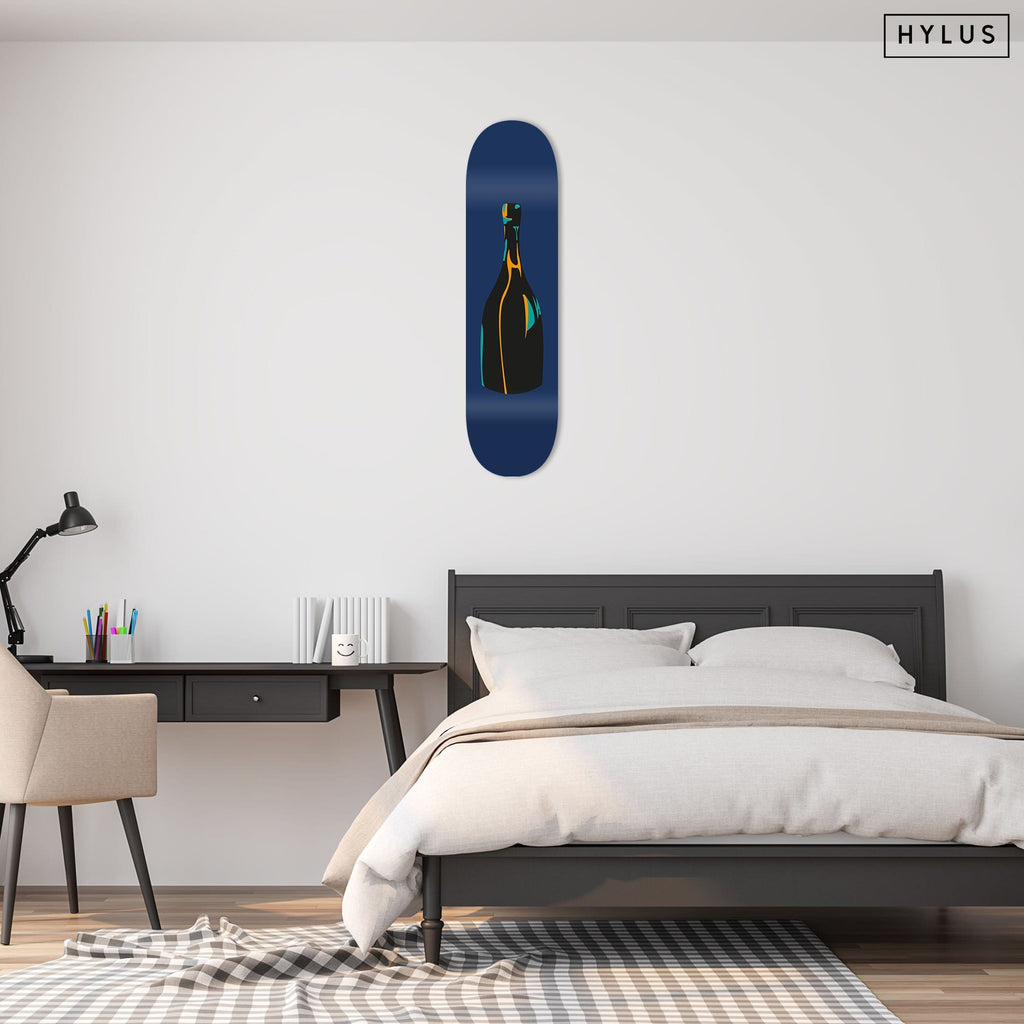 "Bundle: ""Champagne Blue & Pink & Green"" - Skateboard - HYLUS Acrylic Glass Art - Skateboards, Surfboards & Glass Prints Wall Decor for your Home."