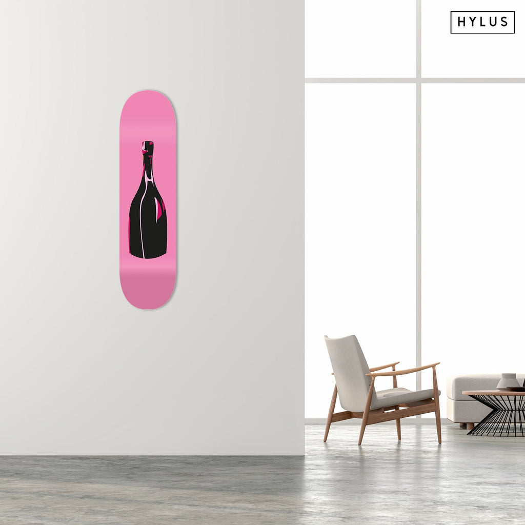 """Champagne Pink"" - Skateboard - HYLUS Acrylic Glass Art - Skateboards, Surfboards & Glass Prints Wall Decor for your Home."