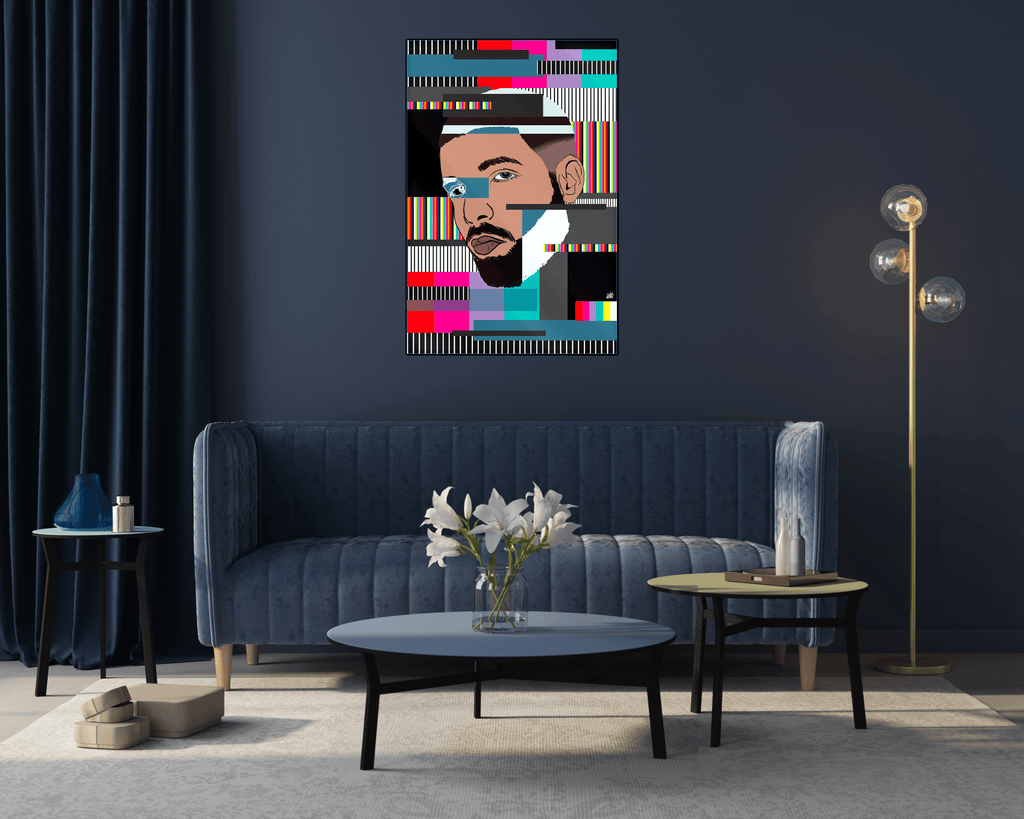 """Drake"" - Glass Print - HYLUS Acrylic Glass Art - Skateboards, Surfboards & Glass Prints Wall Decor for your Home."
