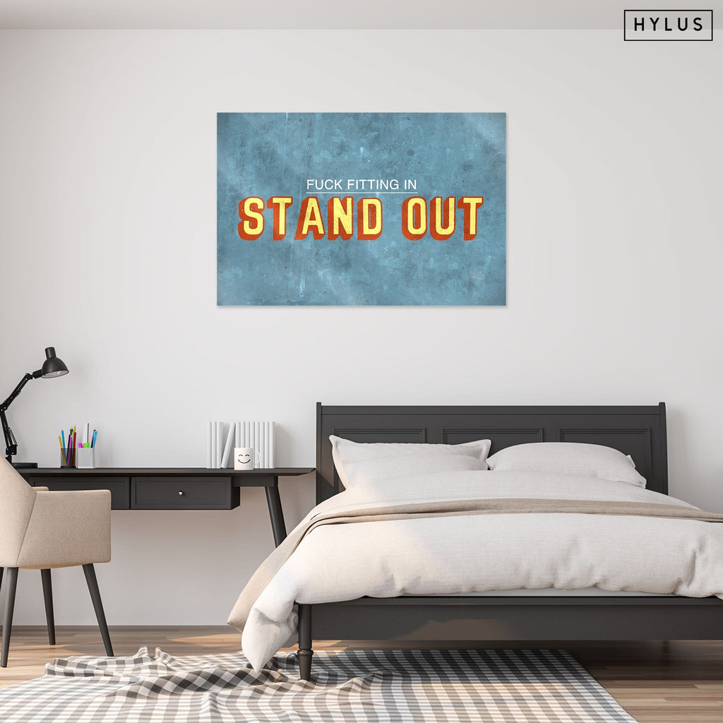"""Stand Out"" - Glass Print - HYLUS Acrylic Glass Art - Skateboards, Surfboards & Glass Prints Wall Decor for your Home."