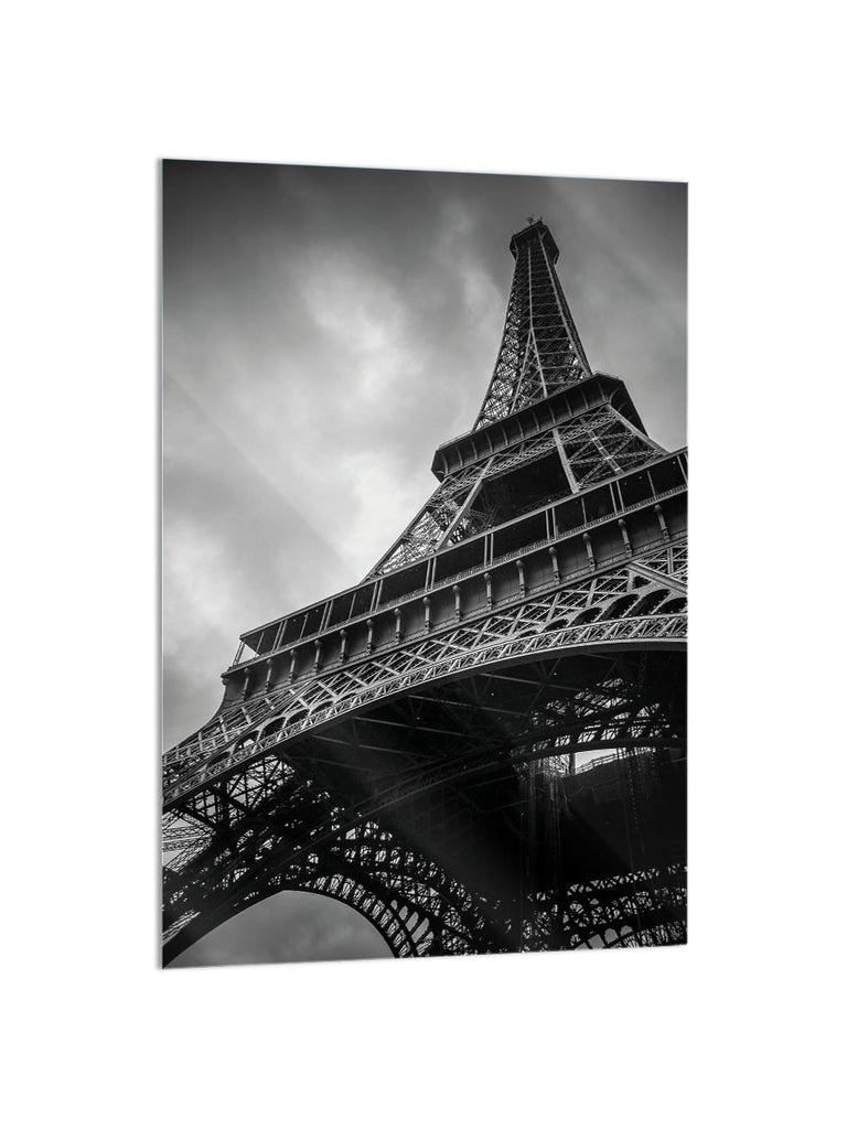 """Paris in Black & White"" - Glass Print - HYLUS Acrylic Glass Art - Skateboards, Surfboards & Glass Prints Wall Decor for your Home."