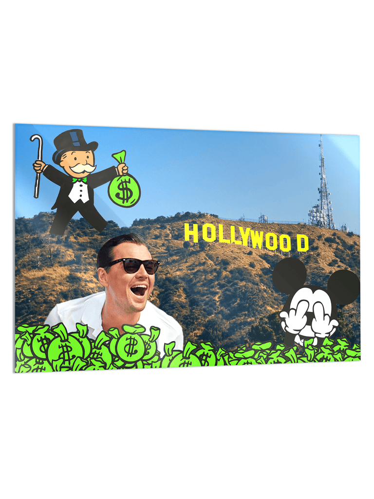 """Hollywood"" - Glass Print - HYLUS Acrylic Glass Art - Skateboards, Surfboards & Glass Prints Wall Decor for your Home."