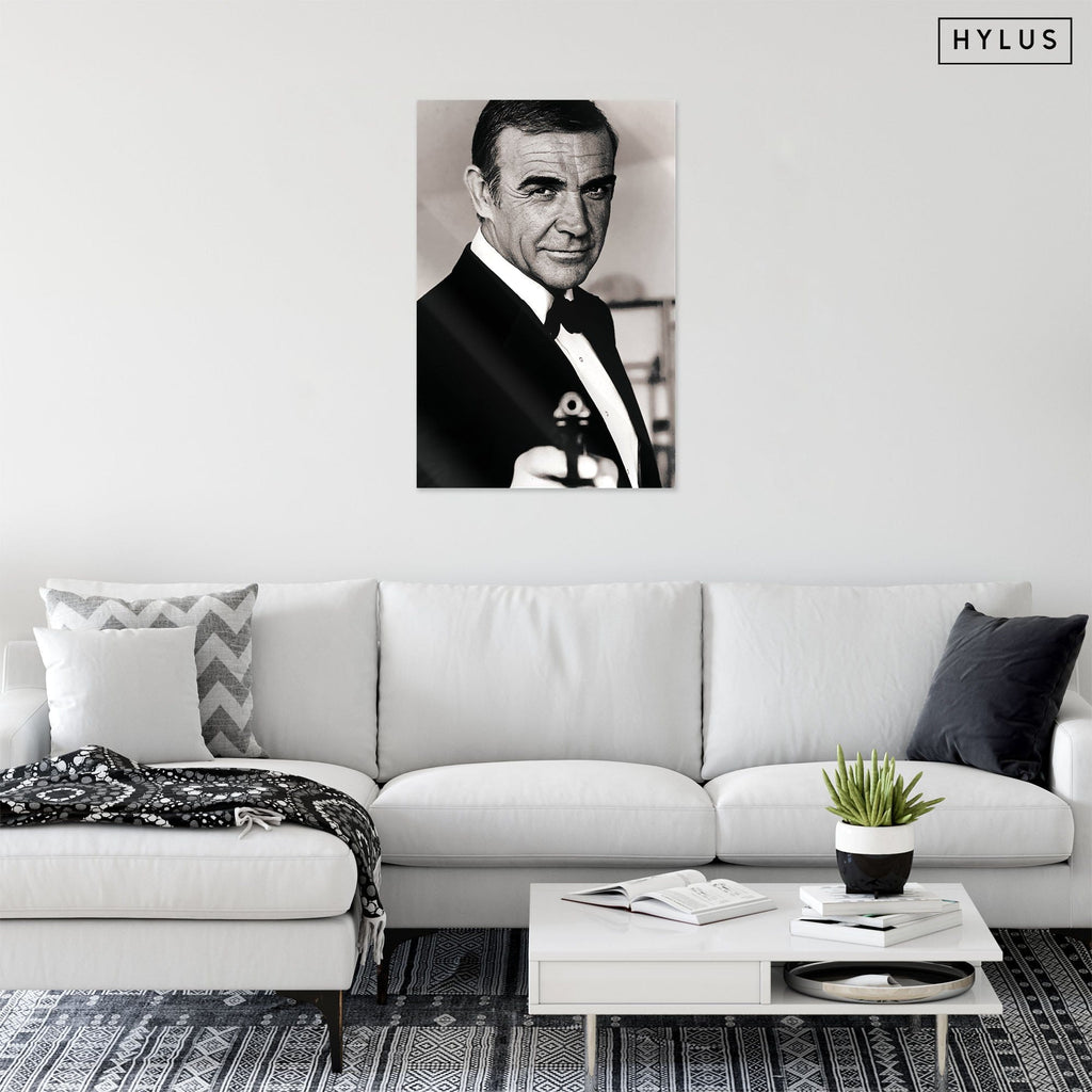 """Mr. Bond"" - Glass Print - HYLUS Acrylic Glass Art - Skateboards, Surfboards & Glass Prints Wall Decor for your Home."