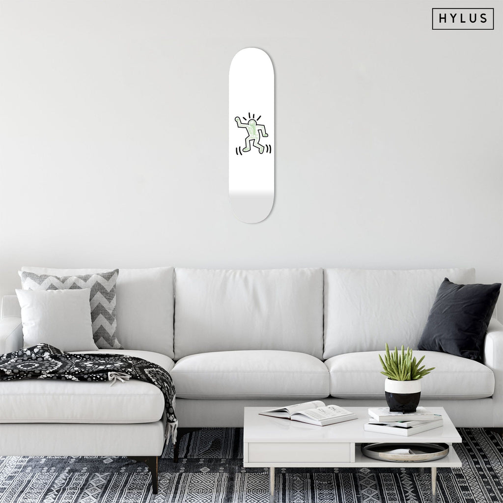 "Bundle: ""Skeleton Blue & Green & Orange & Pink"" - Skateboard - HYLUS Acrylic Glass Art - Skateboards, Surfboards & Glass Prints Wall Decor for your Home."