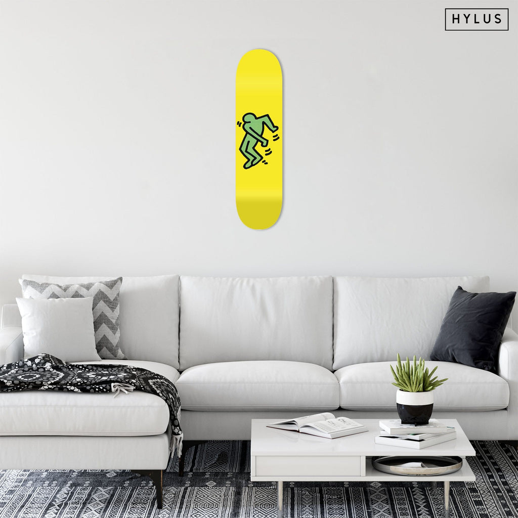 "Bundle: ""Happiness Red & Blue & Green & Magenta"" - Skateboard - HYLUS Acrylic Glass Art - Skateboards, Surfboards & Glass Prints Wall Decor for your Home."