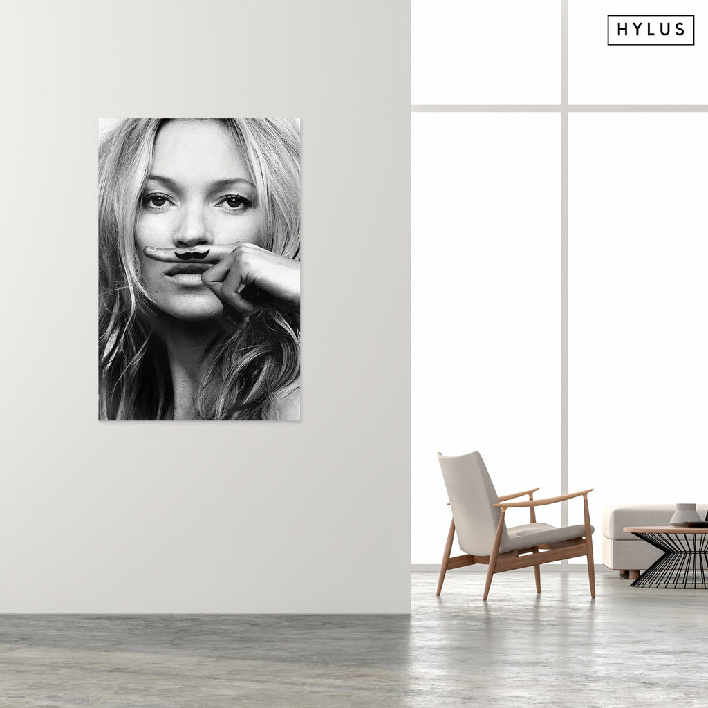 """Moustache"" - Glass Print - HYLUS Acrylic Glass Art - Skateboards, Surfboards & Glass Prints Wall Decor for your Home."