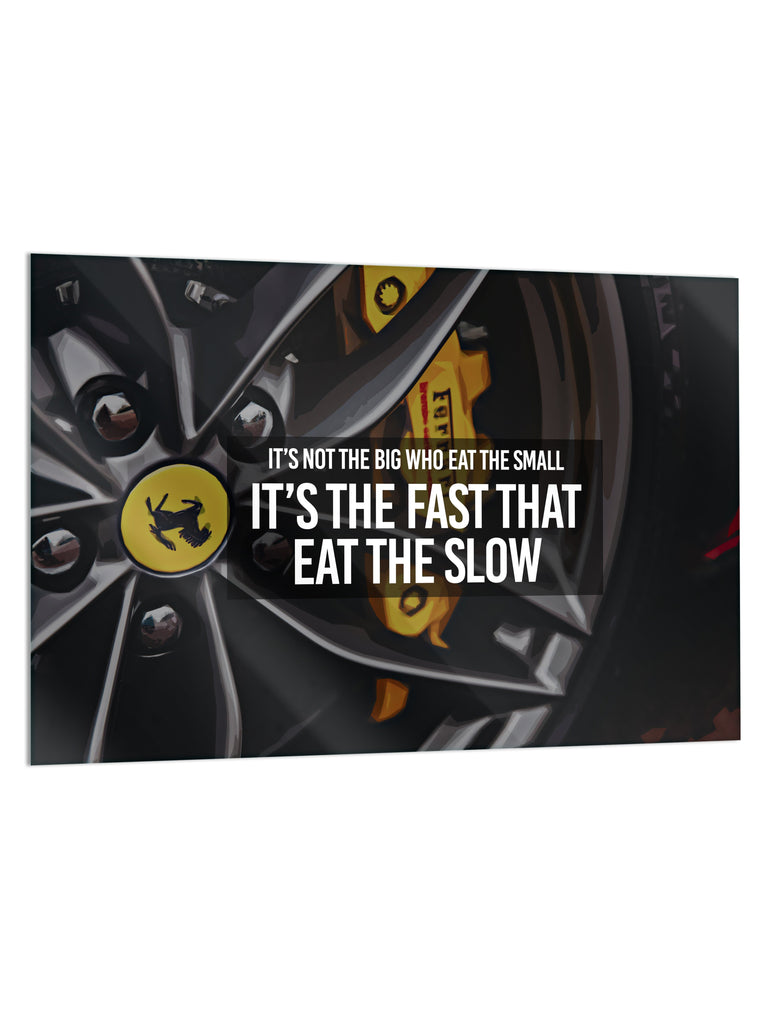 "HYLUS X Lord Aleem: ""Fast vs. Slow"" - Glass Print - HYLUS Acrylic Glass Art - Skateboards, Surfboards & Glass Prints Wall Decor for your Home."