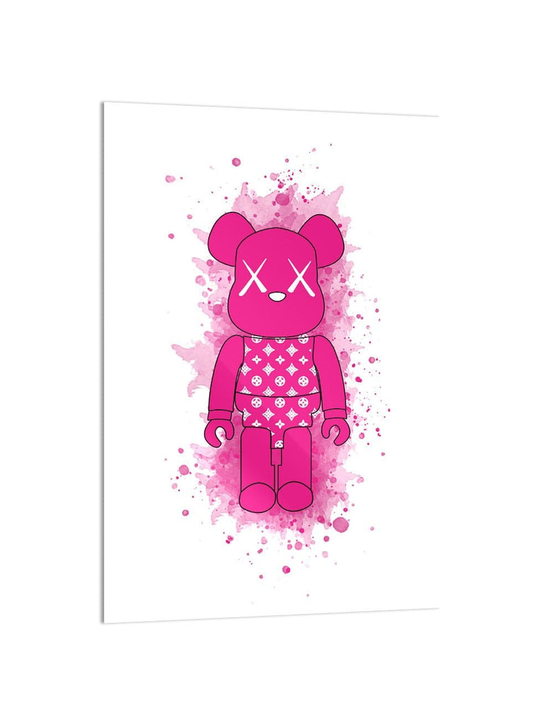 """Diamonds Pink Toy Figure"" - Glass Print - HYLUS Acrylic Glass Art - Skateboards, Surfboards & Glass Prints Wall Decor for your Home."