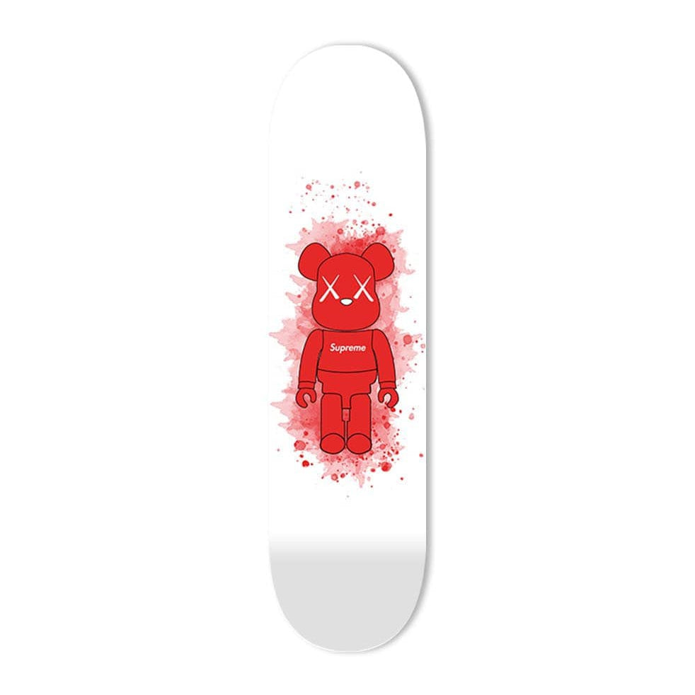 """Supreme Red Toy Figure"" - Skateboard - HYLUS Acrylic Glass Art - Skateboards, Surfboards & Glass Prints Wall Decor for your Home."