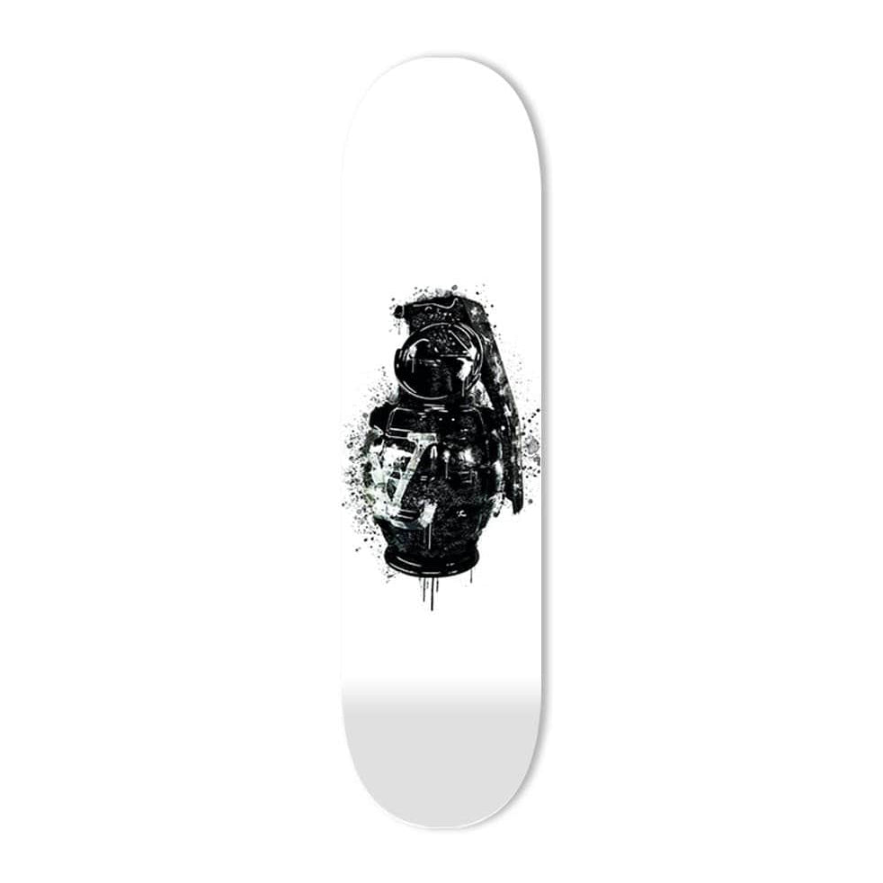 """Luxury Grenade Black"" - Skateboard - HYLUS Acrylic Glass Art - Skateboards, Surfboards & Glass Prints Wall Decor for your Home."