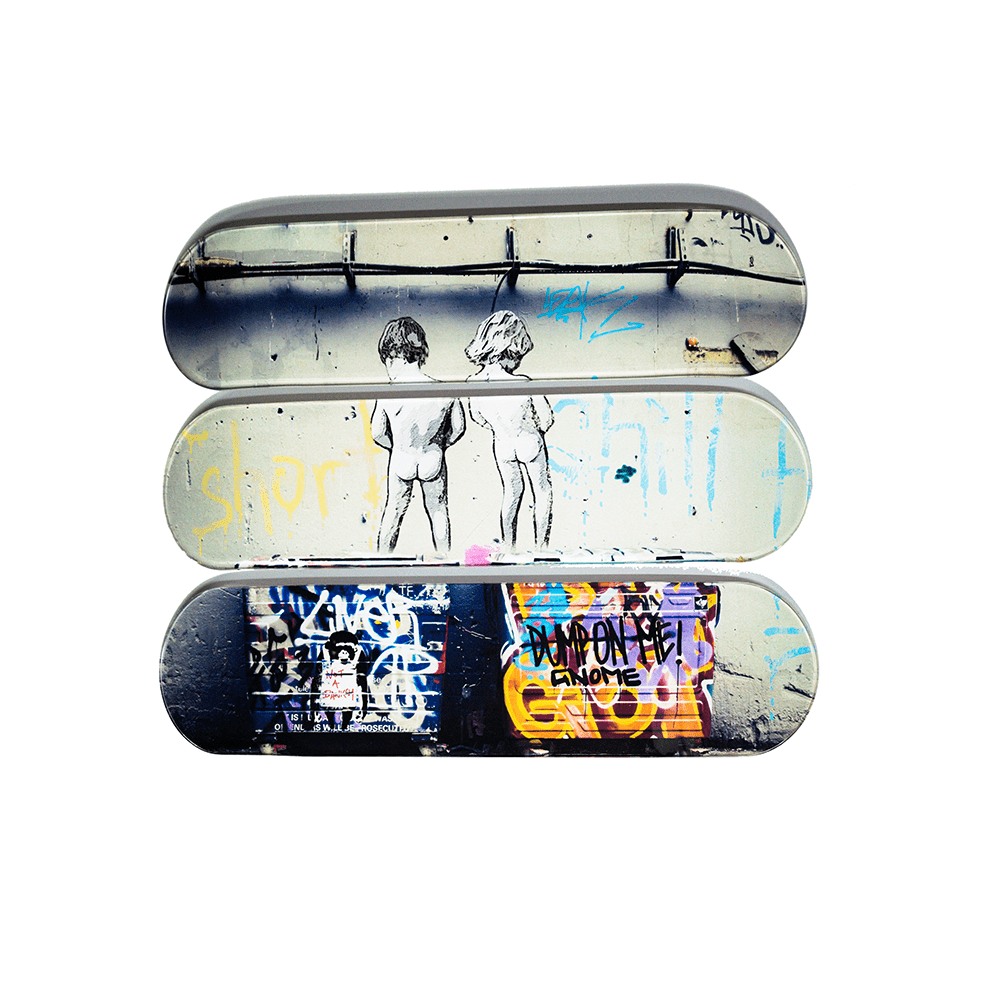 """Life is Short"" - Skateboard - HYLUS Acrylic Glass Art - Skateboards, Surfboards & Glass Prints Wall Decor for your Home."
