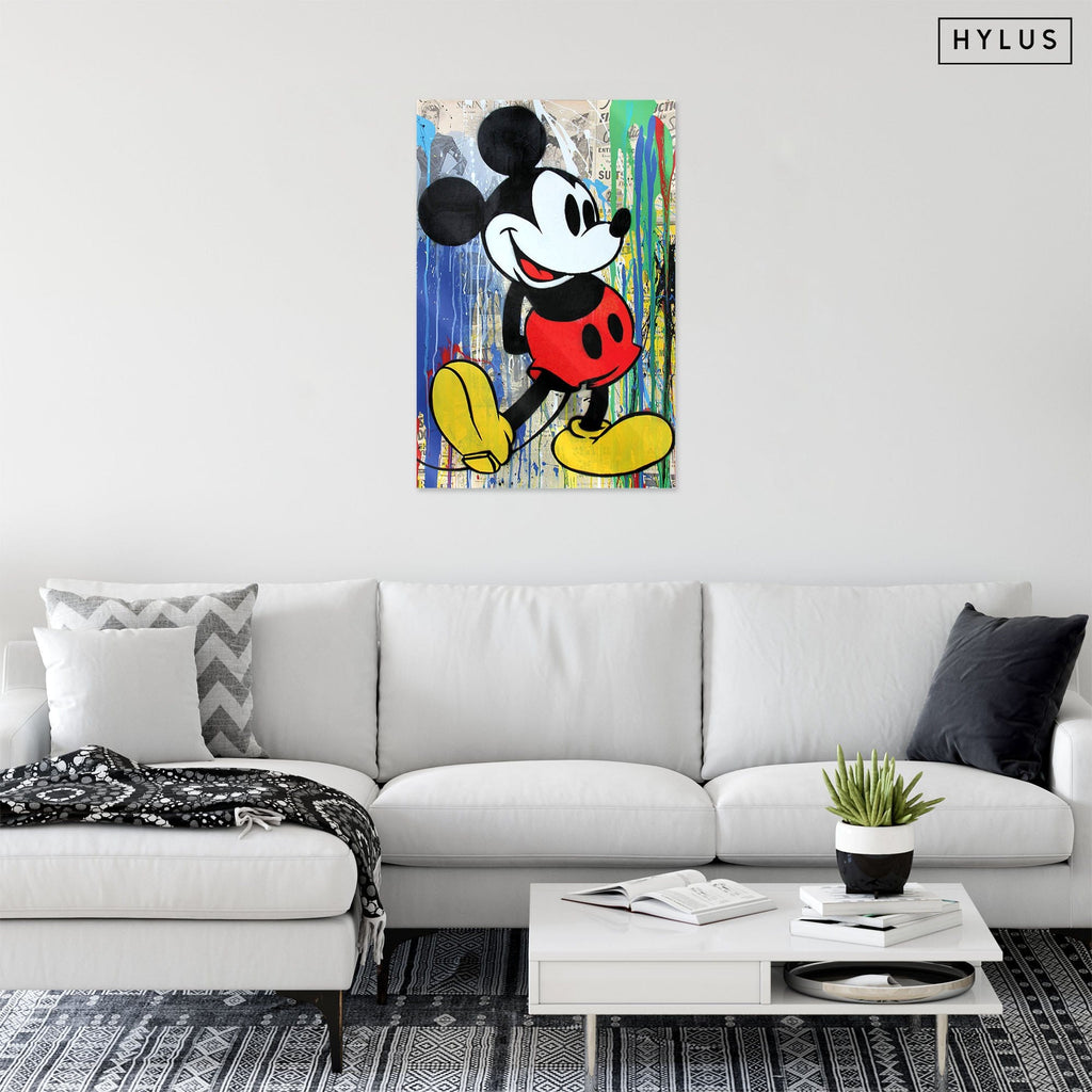 """Mickey Lover"" - Glass Print - HYLUS Acrylic Glass Art - Skateboards, Surfboards & Glass Prints Wall Decor for your Home."