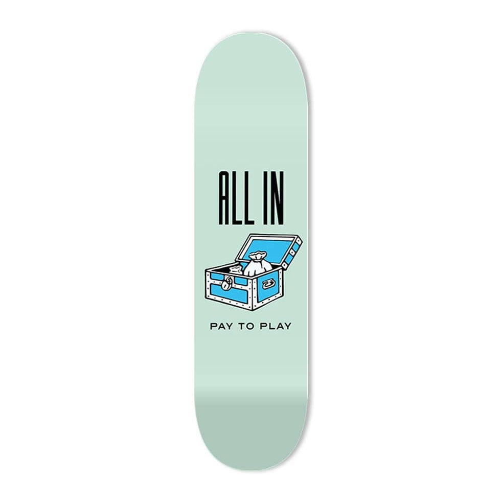 """All In"" - Skateboard - HYLUS Acrylic Glass Art - Skateboards, Surfboards & Glass Prints Wall Decor for your Home."