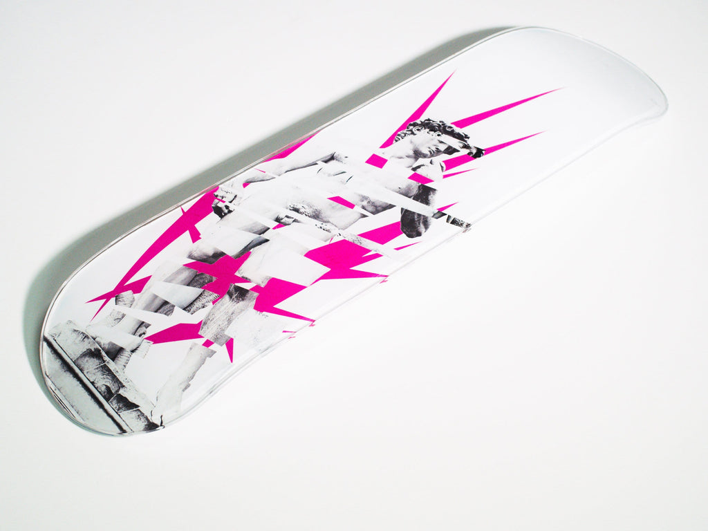 """David"" - Skateboard - HYLUS Acrylic Glass Art - Skateboards, Surfboards & Glass Prints Wall Decor for your Home."