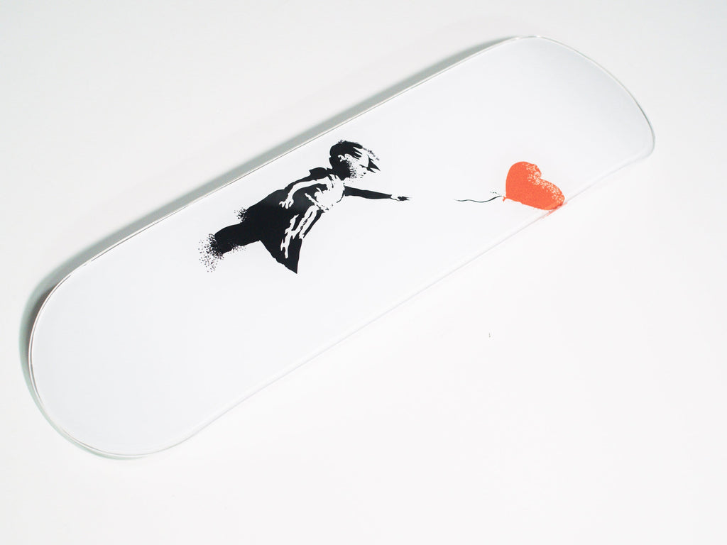 """Love"" - Skateboard - HYLUS Acrylic Glass Art - Skateboards, Surfboards & Glass Prints Wall Decor for your Home."