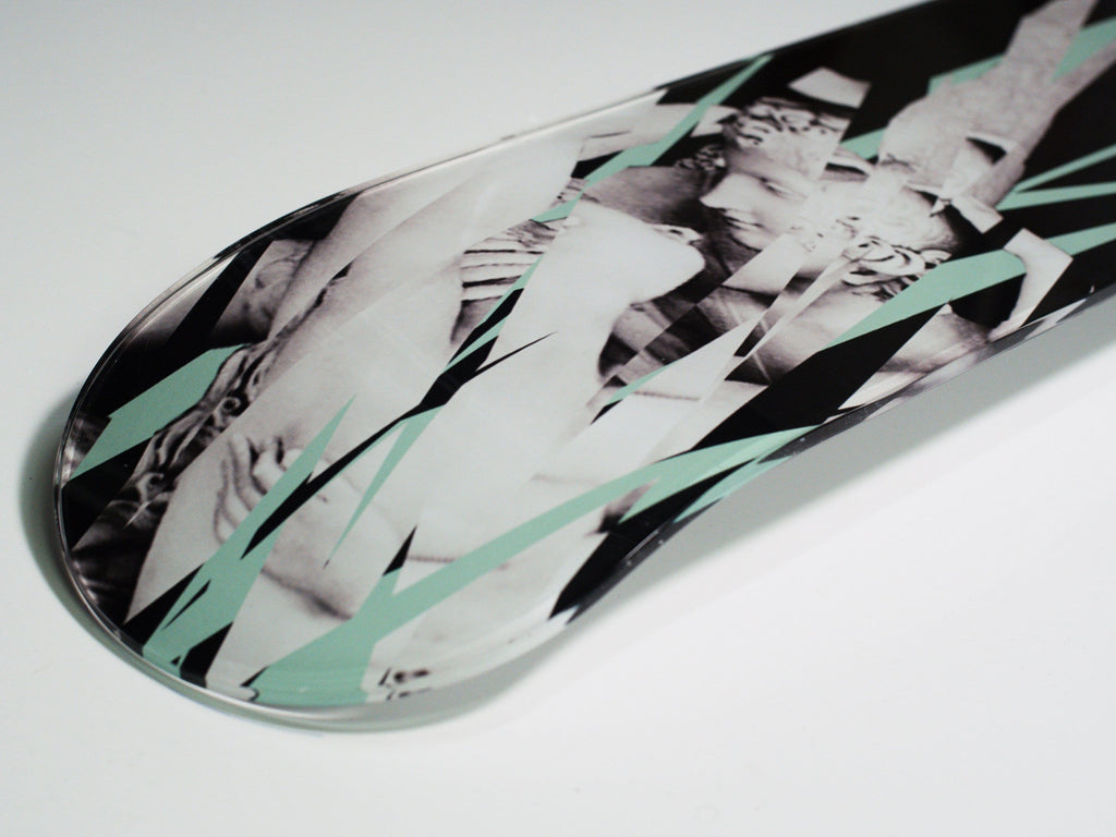 """Amore e Psiche"" - Skateboard - HYLUS Acrylic Glass Art - Skateboards, Surfboards & Glass Prints Wall Decor for your Home."