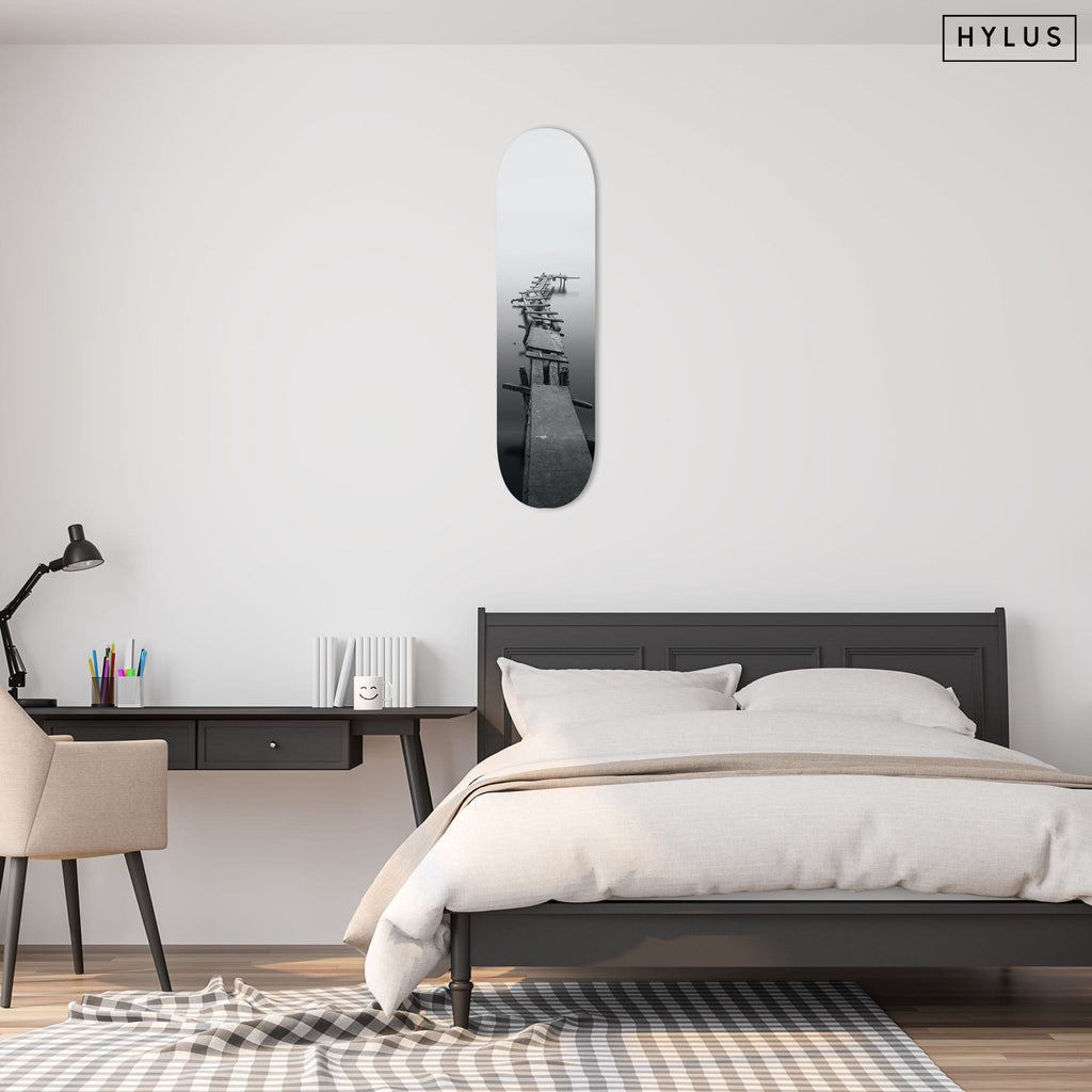 """Road to Nowhere"" - Skateboard - HYLUS Acrylic Glass Art - Skateboards, Surfboards & Glass Prints Wall Decor for your Home."