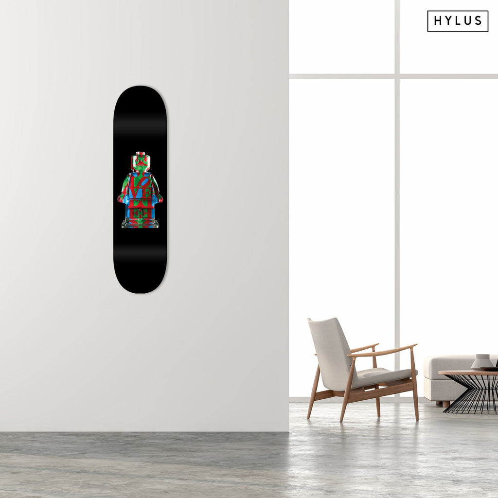 "HYLUS X Alepiano Art - ""LOVE"" - Skateboard - HYLUS Acrylic Glass Art - Skateboards, Surfboards & Glass Prints Wall Decor for your Home."