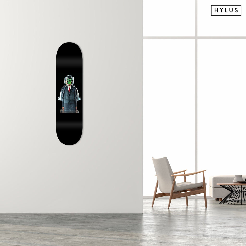 "HYLUS X Alepiano Art - ""Businessman"" - Skateboard - HYLUS Acrylic Glass Art - Skateboards, Surfboards & Glass Prints Wall Decor for your Home."