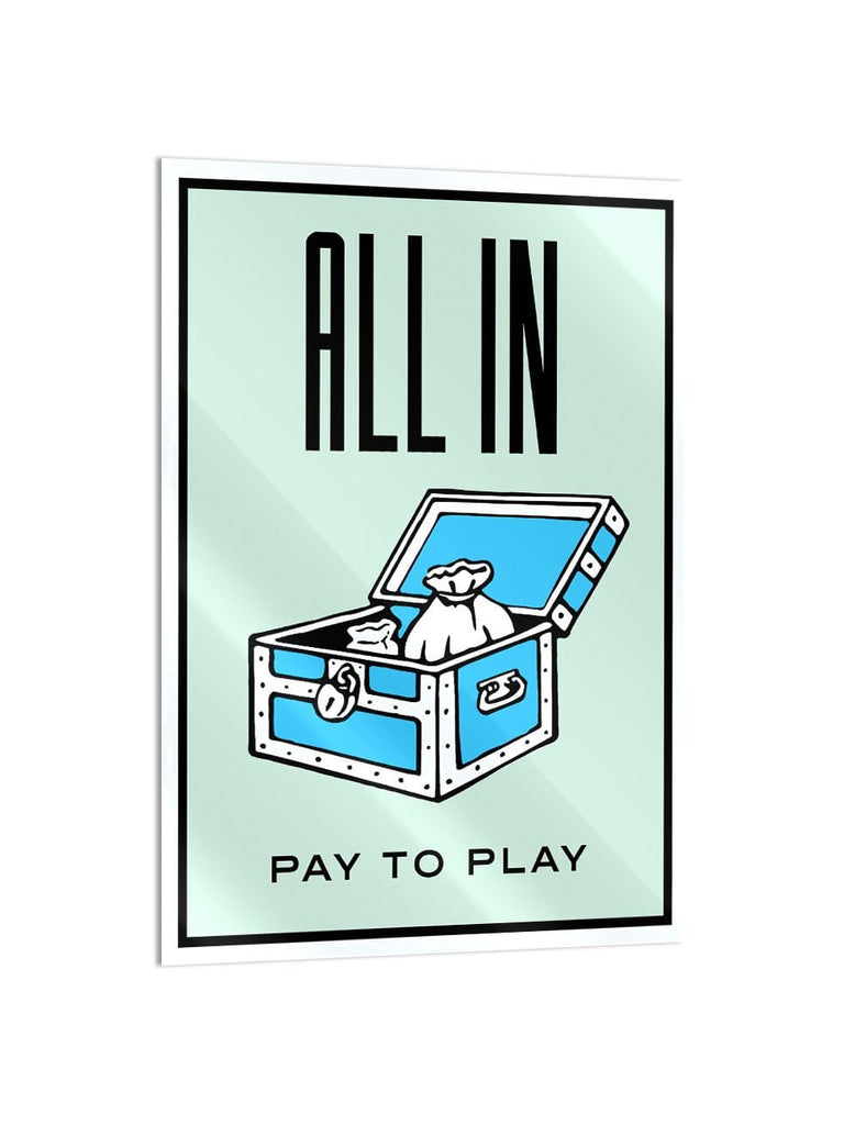 """All In"" - Glass Print - HYLUS Acrylic Glass Art - Skateboards, Surfboards & Glass Prints Wall Decor for your Home."